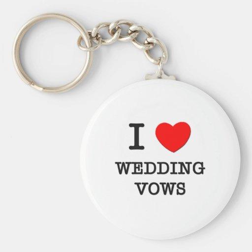 Amo votos de boda llaveros personalizados