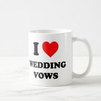 Amo votos de boda tazas de café