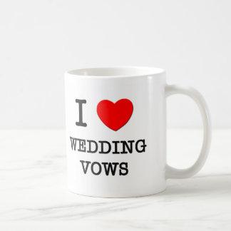 Amo votos de boda tazas