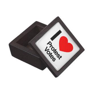 amo votos de la protesta cajas de recuerdo de calidad