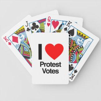 amo votos de la protesta baraja cartas de poker