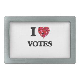 Amo votos hebillas cinturon rectangulares
