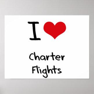 Amo vuelos chárteres impresiones