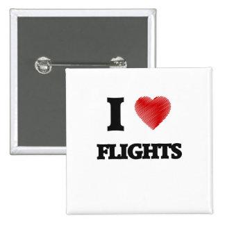 Amo vuelos pin cuadrado