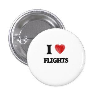 Amo vuelos pin redondo de 1 pulgada