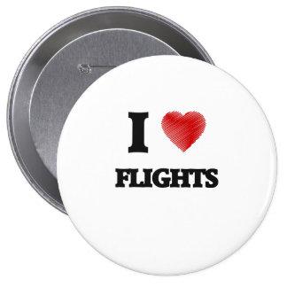 Amo vuelos pin redondo de 4 pulgadas