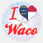 Amo Waco, Carolina del Norte Pegatinas