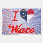 Amo Waco, Carolina del Norte Toallas De Cocina