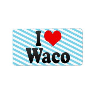 Amo Waco, Estados Unidos Etiquetas De Dirección