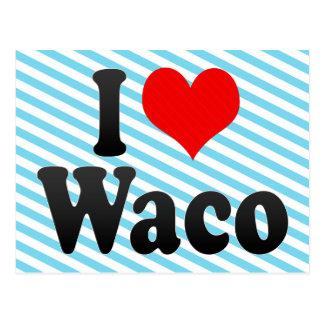Amo Waco, Estados Unidos Tarjeta Postal