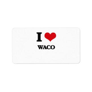 Amo Waco Etiquetas De Dirección
