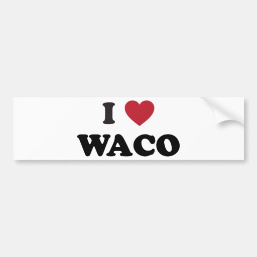 Amo Waco Tejas Etiqueta De Parachoque