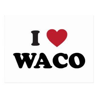Amo Waco Tejas Tarjeta Postal