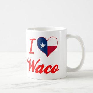 Amo Waco, Tejas Taza Básica Blanca