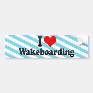 Amo Wakeboarding Etiqueta De Parachoque