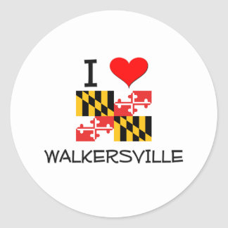 Amo Walkersville Maryland Etiqueta Redonda