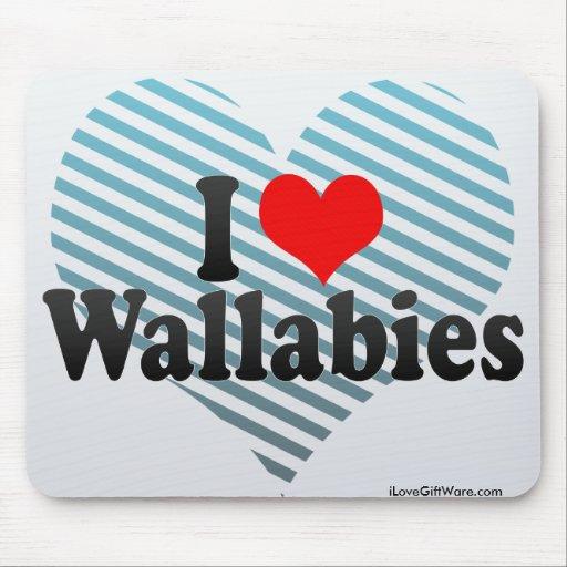 Amo Wallabies Alfombrillas De Ratones