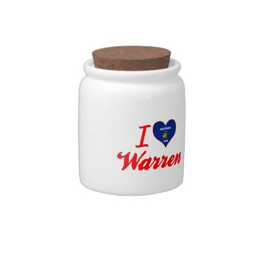 Amo Warren, Wisconsin Tarro De Cerámica Para Dulces