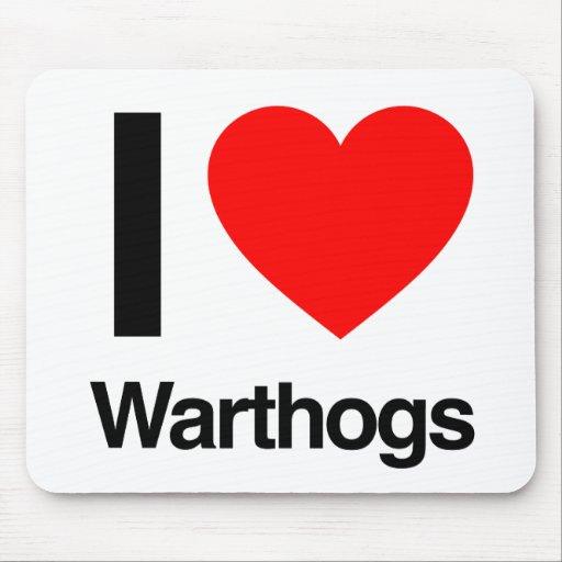 amo warthogs alfombrillas de ratón