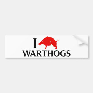 Amo Warthogs Pegatina De Parachoque