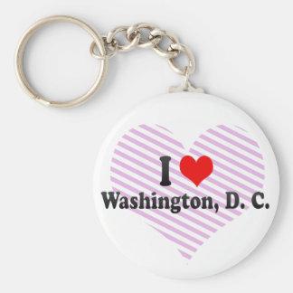 Amo Washington, C.C., Estados Unidos Llavero Redondo Tipo Pin