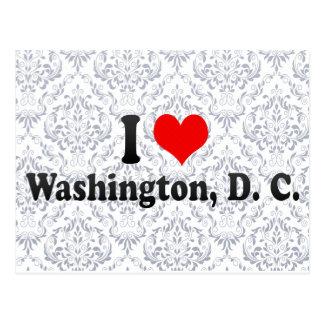Amo Washington, C.C., Estados Unidos Tarjetas Postales