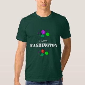 Amo WASHINGTON D C América los E.E.U.U. Poleras