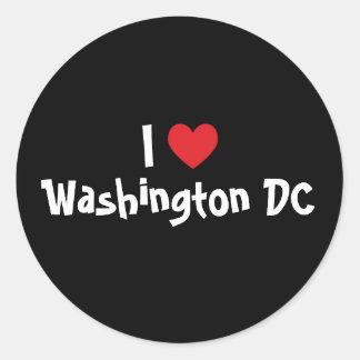 Amo Washington DC Pegatina Redonda