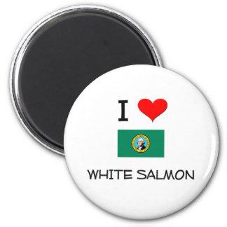 Amo Washington de color salmón blanco Imanes Para Frigoríficos