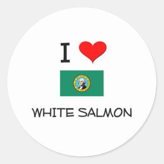 Amo Washington de color salmón blanco Etiquetas