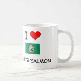 Amo Washington de color salmón blanco Taza De Café