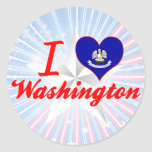 Amo Washington, Luisiana Etiqueta Redonda