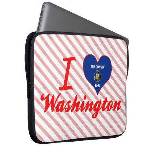 Amo Washington, Wisconsin Fundas Computadoras
