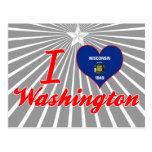 Amo Washington, Wisconsin Tarjetas Postales