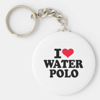 Amo water polo llavero redondo tipo pin