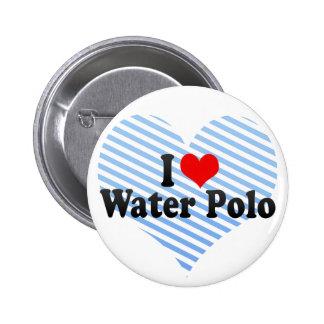 Amo water polo pin redondo de 2 pulgadas