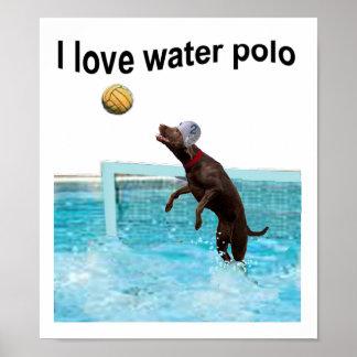 Amo water polo póster