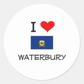 Amo Waterbury Vermont Pegatinas Redondas