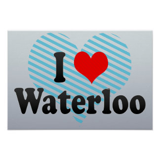 Amo Waterloo Canadá Poster