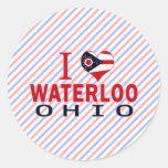 Amo Waterloo, Ohio Pegatina