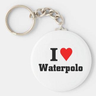 Amo waterpolo llavero redondo tipo pin