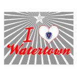 Amo Watertown, Massachusetts Tarjeta Postal