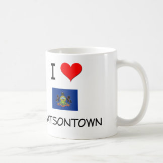 Amo Watsontown Pennsylvania Taza Básica Blanca