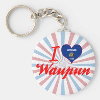 Amo Waupun, Wisconsin Llaveros