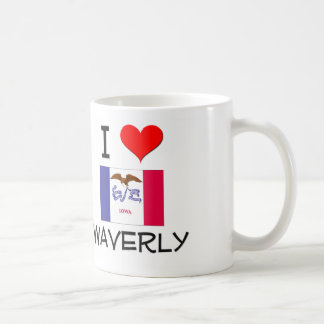 Amo WAVERLY Iowa Taza Básica Blanca