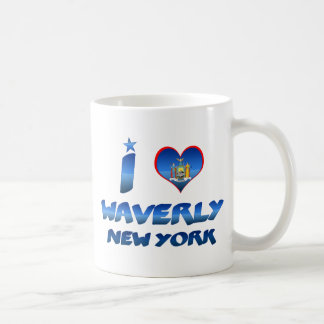 Amo Waverly, Nueva York Taza De Café