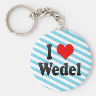 Amo Wedel, Alemania. Ich Liebe Wedel, Alemania Llaveros