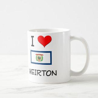 Amo Weirton Virginia Occidental Tazas De Café