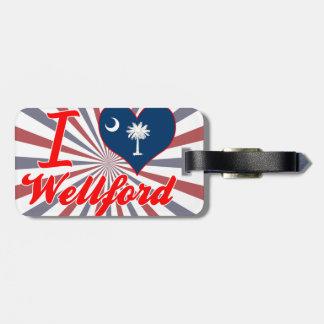 Amo Wellford, Carolina del Sur Etiquetas Bolsa