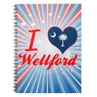 Amo Wellford, Carolina del Sur Libros De Apuntes Con Espiral